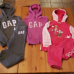 Gap and Roxy Girl Sweat Suit Hoodie Lot